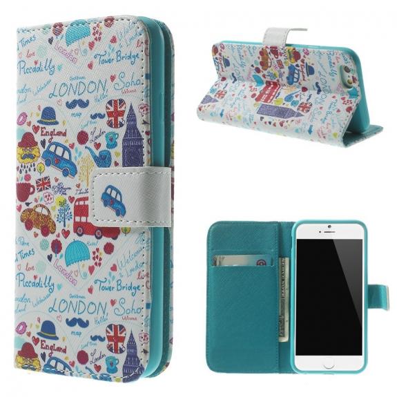 AppleKing peněženkové pouzdro se sloty na karty pro Apple iPhone 6 / 6S - Londýn a Big Ben - možnost vrátit zboží ZDARMA do 30ti dní