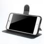 MEILAITE kožené pouzdro s magnetickým klipem pro Apple iPhone 6 / 6S - černé