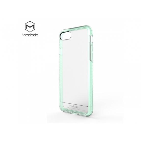 MCDODO ochranný plastový obal pro Apple iPhone 7 / 8 - průsvitný zelený - možnost vrátit zboží ZDARMA do 30ti dní