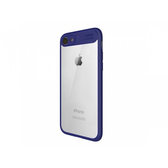 MCDODO ochranný kryt s průsvitnou zadní stranou pro Apple iPhone 7 / 8 - modrý - možnost vrátit zboží ZDARMA do 30ti dní