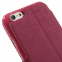 MEILAITE kožené pouzdro s magnetickým klipem pro Apple iPhone 6 / 6S - rose