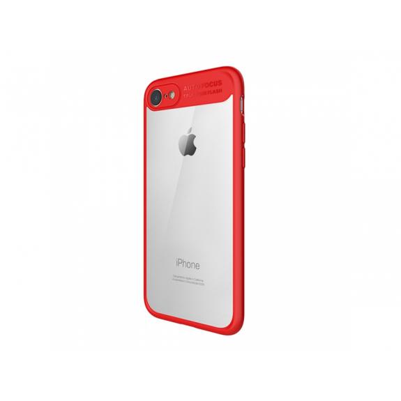 MCDODO ochranný kryt s průsvitnou zadní stranou pro Apple iPhone 7 / 8 - červený - možnost vrátit zboží ZDARMA do 30ti dní