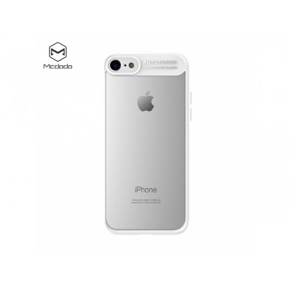 MCDODO ochranný kryt s průsvitnou zadní stranou pro Apple iPhone 7 Plus / 8 Plus - bílý - možnost vrátit zboží ZDARMA do 30ti dní