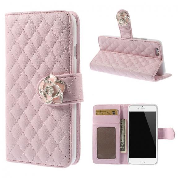 AppleKing pouzdro Camellia se sloty na karty pro Apple iPhone 6 / 6S - růžové - možnost vrátit zboží ZDARMA do 30ti dní