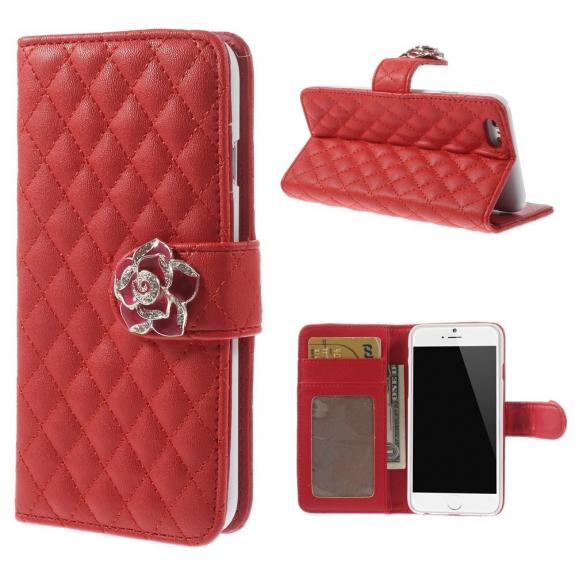 AppleKing pouzdro Camellia se sloty na karty pro Apple iPhone 6 / 6S - červené - možnost vrátit zboží ZDARMA do 30ti dní