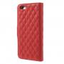 Pouzdro Camellia se sloty na karty pro Apple iPhone 6 / 6S - červené