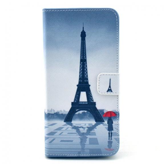 Pouzdro / kryt se sloty na karty pro Apple iPhone 6 / 6S - Dívka a Eiffelovka