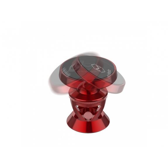 MCDODO magnetický nalepovací držák do auta pro Apple iPhone - červený - možnost vrátit zboží ZDARMA do 30ti dní