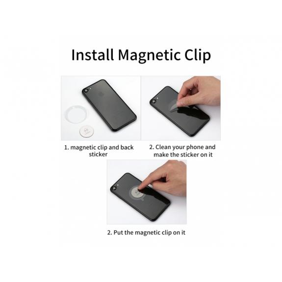 MCDODO příslušenství k magnetickému držáku telefonu pro Apple iPhone - magnetický plíšek / samolepka / čistící hadřík - možnost vrátit zboží ZDARMA do 30ti dní