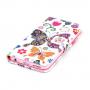 Peněženkové pouzdro s klipem pro Apple iPhone 6 / 6S - Motýli a květiny
