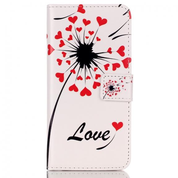 Peněženkové pouzdro s klipem pro Apple iPhone 6 / 6S - Láska a květiny