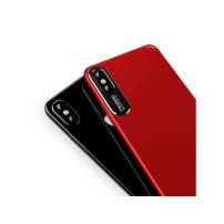 MCDODO ochranný kryt s hliníkovou vrstvou pro ochranu kamery pro Apple iPhone X - červený