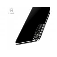 MCDODO ochranný kryt s hliníkovou vrstvou pro ochranu kamery pro Apple iPhone X - průsvitný černý