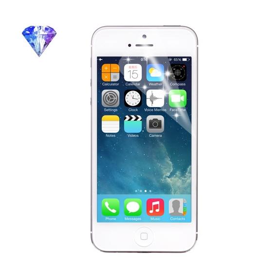 Ochranná diamond fólie pro iPhone 5 / 5C / 5S / SE - třpytivý efekt