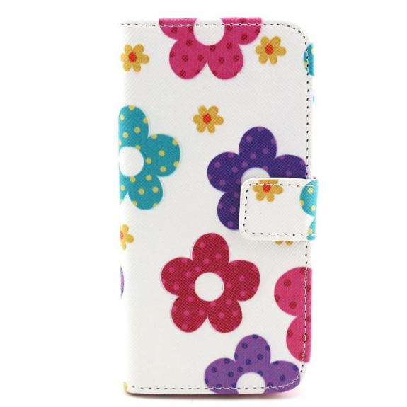 AppleKing pouzdro se sloty na karty pro Apple iPhone 6 / 6S - Květinový vzor - možnost vrátit zboží ZDARMA do 30ti dní
