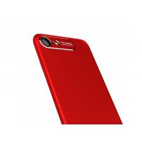 MCDODO ochranný kryt s hliníkovou vrstvou pro ochranu kamery pro Apple iPhone 7 Plus / 8 Plus - červený