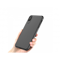 MCDODO ochranný kryt s plastickým vzorem pro Apple iPhone X - černý