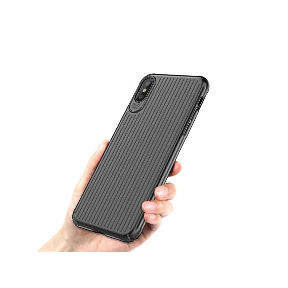 MCDODO ochranný kryt s plastickým vzorem pro Apple iPhone XS / iPhone X - černý - možnost vrátit zboží ZDARMA do 30ti dní