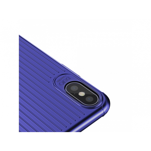 MCDODO ochranný kryt s plastickým vzorem pro Apple iPhone XS / iPhone X - modrý - možnost vrátit zboží ZDARMA do 30ti dní