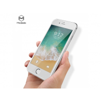 MCDODO syntetické safírové 3D sklo pro Apple iPhone 7 Plus / 8 Plus - bílé