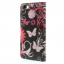 Otevírací pouzdro se sloty na karty pro Apple iPhone 6 /6S - motýli a květiny