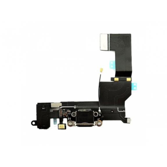 AppleKing napájecí a datový konektor s jack konektorem a flex kabelem pro Apple iPhone SE - vesmírně šedá (Space Gray) - možnost vrátit zboží ZDARMA do 30ti dní