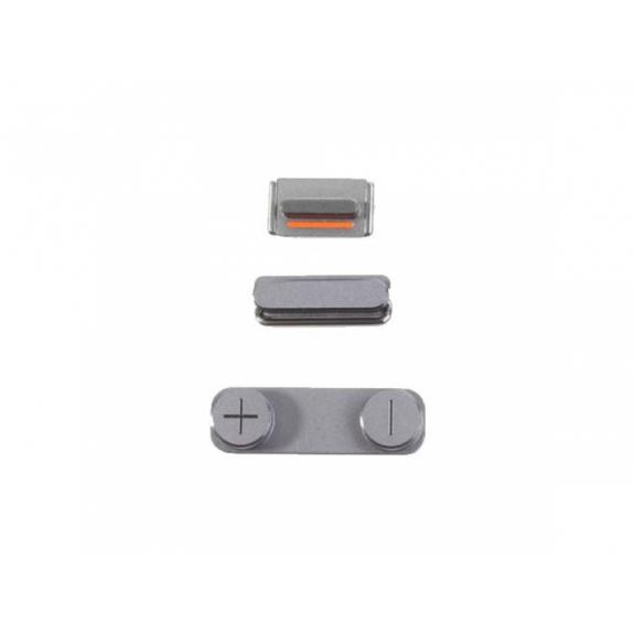AppleKing náhradní postranní tlačítka pro Apple iPhone SE (Hlasitost + Zapnutí / vypnutí + Ztlumení) - vesmírně šedá (Space Gray) - možnost vrátit zboží ZDARMA do 30ti dní