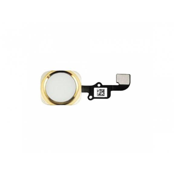 AppleKing náhradní Home Button s flex kabelem pro Apple iPhone 6 Plus - zlatý - možnost vrátit zboží ZDARMA do 30ti dní