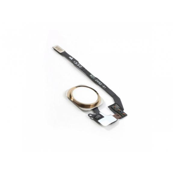 AppleKing náhradní Home Button s flex kabelem pro Apple iPhone 5S - zlatý - možnost vrátit zboží ZDARMA do 30ti dní