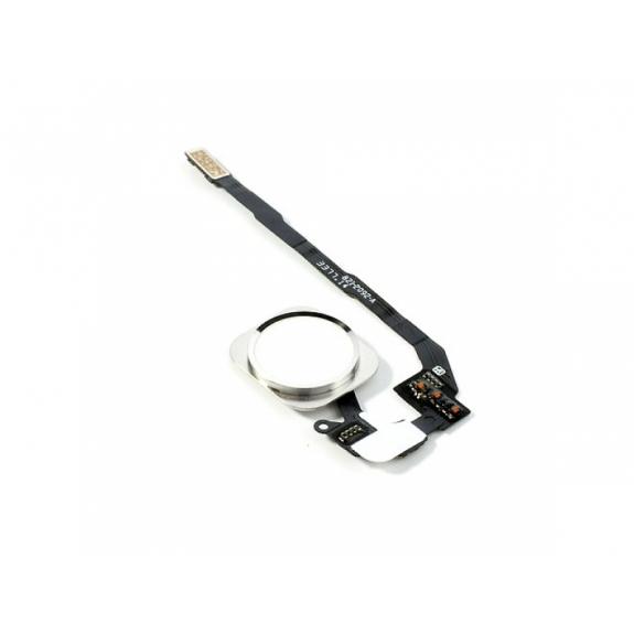 AppleKing náhradní Home Button s flex kabelem pro Apple iPhone 5S - stříbrný - možnost vrátit zboží ZDARMA do 30ti dní