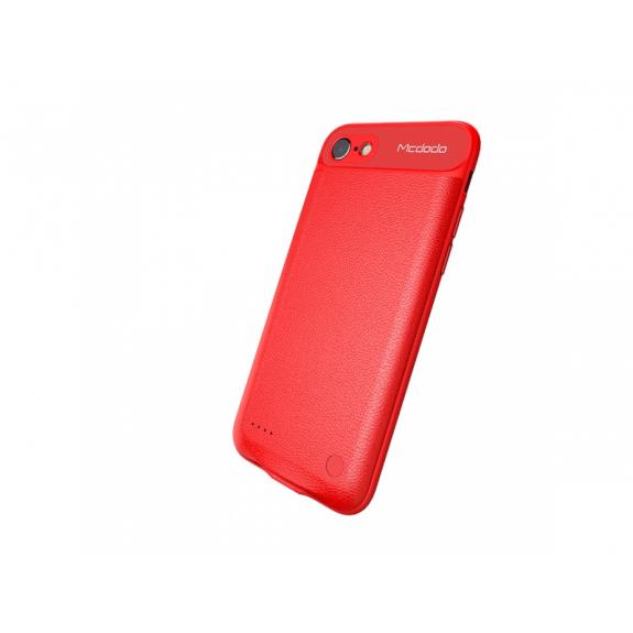 MCDODO kryt s externí baterií 3650mAh pro Apple iPhone 7 Plus - červený - možnost vrátit zboží ZDARMA do 30ti dní