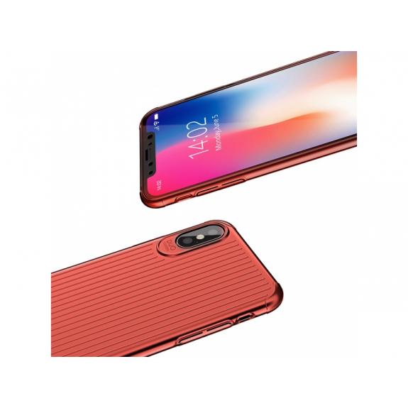MCDODO ochranný kryt s plastickým vzorem pro Apple iPhone XS / iPhone X - červený - možnost vrátit zboží ZDARMA do 30ti dní