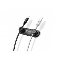 MCDODO magnetický držák na kabely pro Apple zařízení - černý