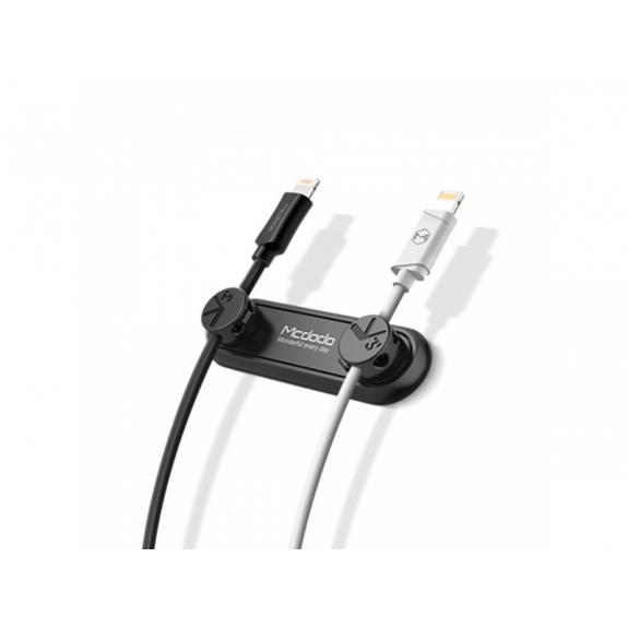 MCDODO magnetický držák na kabely pro Apple zařízení - černý - možnost vrátit zboží ZDARMA do 30ti dní