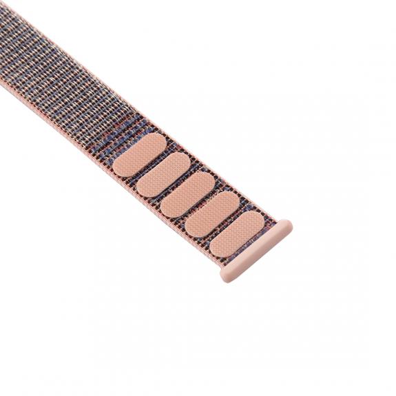 AppleKing nylonový řemínek se zapínáním na suchý zip pro Apple Watch 3 / 2 / 1 - 42mm - růž