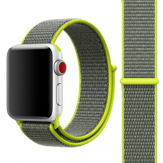 AppleKing nylonový řemínek se zapínáním na suchý zip pro Apple Watch 3 / 2 / 1 - 42mm - zelen