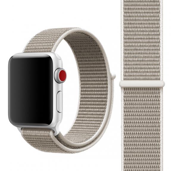 AppleKing nylonový řemínek se zapínáním na suchý zip pro Apple Watch 3 / 2 / 1 - 42mm - svět
