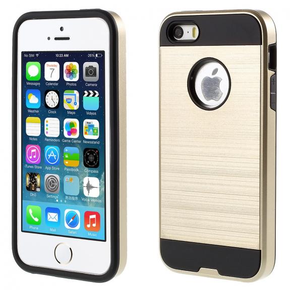 AppleKing pouzdro 2v1 pro Apple iPhone 5   5S   SE - zlaté - možnost vrátit 7937a180838