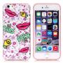 Ochranný kryt na Apple iPhone 6 / 6S - se rty a květinami