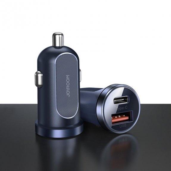 Joyroom dual PD / QC 30W rychlonabíječka do auta - modrá - možnost vrátit zboží ZDARMA do 30ti dní