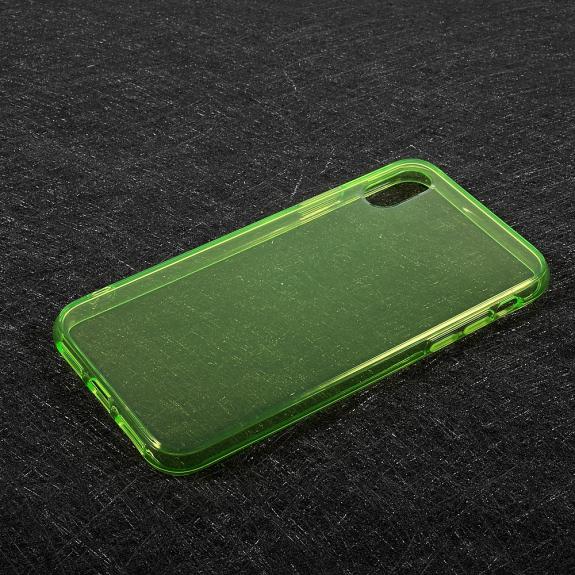 AppleKing tenký poloprůhledný kryt na iPhone XS / iPhone X - zelený - možnost vrátit zboží ZDARMA do 30ti dní