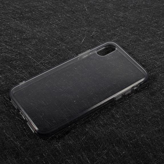 AppleKing tenký poloprůhledný kryt na iPhone XS / iPhone X - šedý - možnost vrátit zboží ZDARMA do 30ti dní
