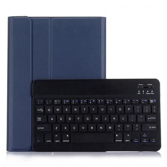 AppleKing luxusní kryt s bezdrátovou klávesnicí pro Apple iPad 9.7 (2017) / iPad 2018 / iPad 9.7 / iPad Air / iPad Air 2 - tmavě modrý - možnost vrátit zboží ZDARMA do 30ti dní