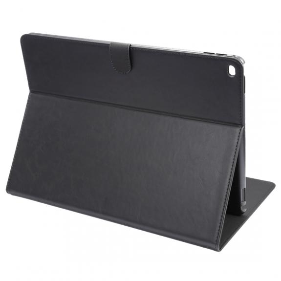 """ENKAY luxusní ochranný kryt z umělé kůže a integrovaným stojánkem pro Apple iPad 12,9"""" - černý - možnost vrátit zboží ZDARMA do 30ti dní"""
