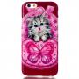 Pružné pouzdro / kryt pro Apple iPhone 6 / 6S - Kočka s motýlem