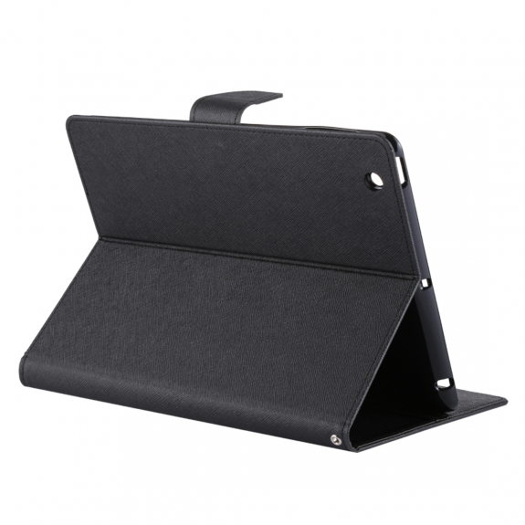 MERCURY ochranné flip pouzdro s broušenou texturou a integrovaným stojánkem pro Apple iPad 4 / 3 / 2 - černé - možnost vrátit zboží ZDARMA do 30ti dní