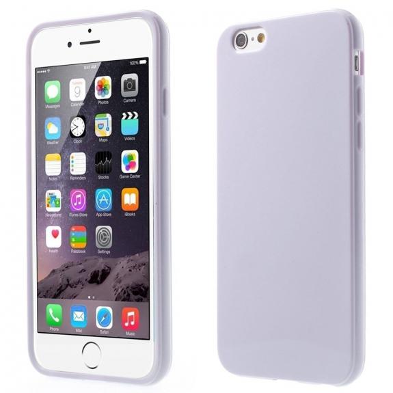 AppleKing lesklý gelový kryt na Apple iPhone 6 / 6S - světle fialový - možnost vrátit zboží ZDARMA do 30ti dní