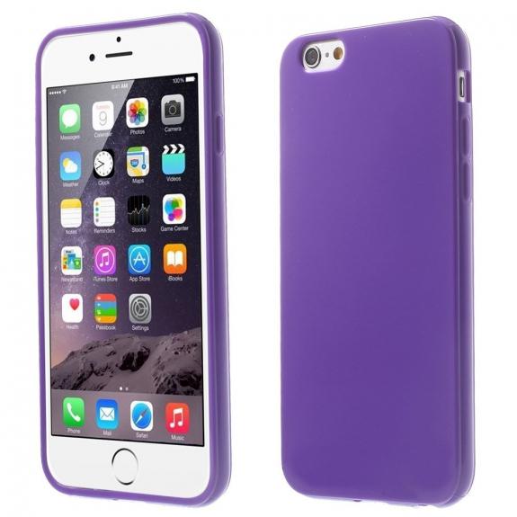 AppleKing lesklý gelový kryt na Apple iPhone 6 / 6S - tmavě fialový - možnost vrátit zboží ZDARMA do 30ti dní