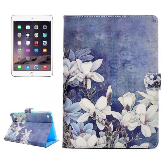 AppleKing ochranné flip pouzdro s integrovaným stojánkem a prostorem na doklady pro Apple iPad mini 3 / 2 / 1 - květy magnólie - možnost vrátit zboží ZDARMA do 30ti dní