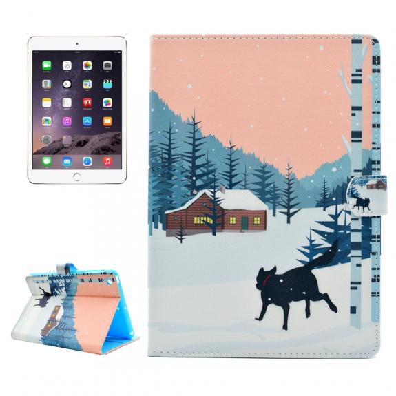 AppleKing ochranné flip pouzdro s integrovaným stojánkem a prostorem na doklady pro Apple iPad mini 3 / 2 / 1 - horská chata - možnost vrátit zboží ZDARMA do 30ti dní